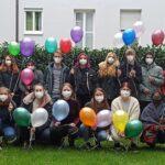 Die zukünftigen Pflege-Generalisten starten voller Elan und Teamgeist in die dreijährige Ausbildung. (Bildrechte BFS für Pflege Würzburg, Fotograf: privat)