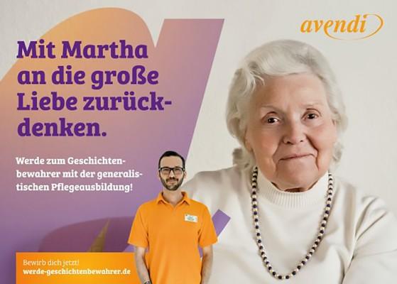 Die neue avendi-Ausbildungskampagne stellt Lebensgeschichten in den Fokus. (© avendi Senioren Service GmbH & Co. KG)